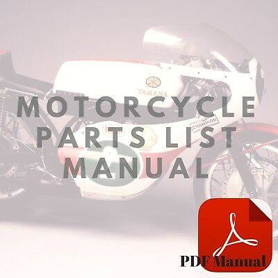 Yamaha 1972 DT2 1972 RT2 1973 DT3 1973 RT3 Parts List Motorcycle Manual