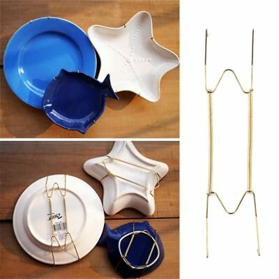 """W Type Hook 6"""" to 16""""Inchs Wall Displays Plate Dish Hanger Holder For Home Decor"""