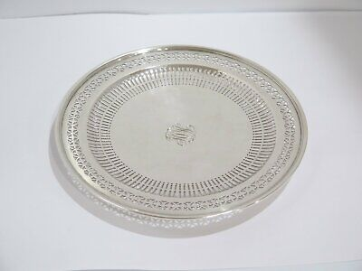 10.5 in - Sterling Silver Tiffany & Co. Antique Openwork Footed Serving Plate