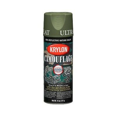 Krylon Fusion Plastic Paint CAMOUFLAGE ULTRA FLAT LIGHT WOODLAND GREEN