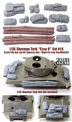 1/35 Scale Sherman Engine Deck Stowage Set #16 Easy 8 - Value Gear Resin