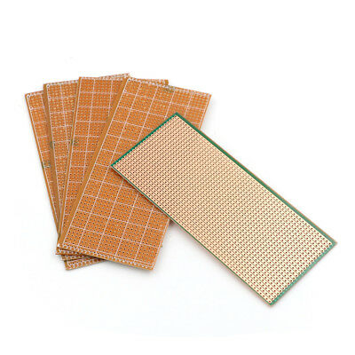 5X 6.5x14.5cm Stripboard Veroboard Uncut PCB Platine Single SideCircuit Board WE