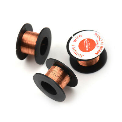 3 Roll Magnet Wire AWG Gauge Enameled Copper Coil Winding 0.1mm   WE