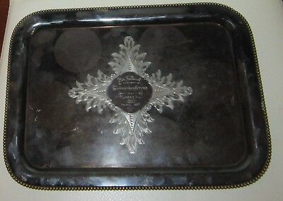Antique German-American silverplate tray from Dundee, IL, 1900