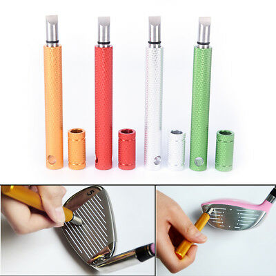 1pc Golf Wedge Iron Groove Sharpener Club Cleaner Cleaning Tool Square UK`
