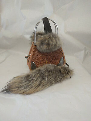 Coyote Tail and ear muffs, purse not included