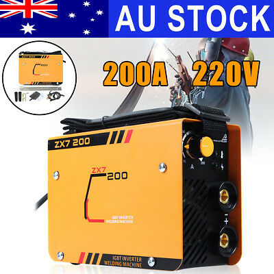 AU 200Amp Portable Welder Inverter Electric MMA ARC MIG IGBT TIG Welding Machine