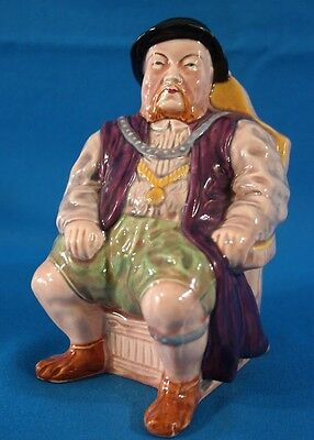 H A Wain & Sons Melba Ware King Henry VIII Toby Jug Made in England