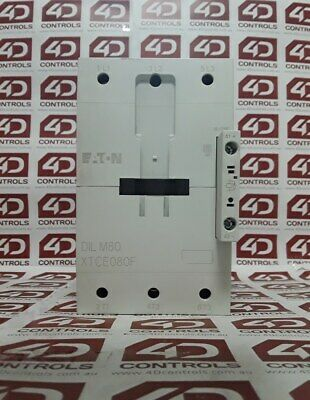 Eaton DIL M80 XTCE080F 80 Amp 3 pole 80 Amp Contactor 24-27 VDC Coil - Used