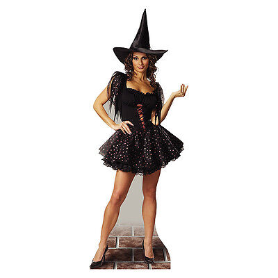GLITTER WITCH Lifesize CARDBOARD CUTOUT Standup Standee Scary Halloween Prop F/S