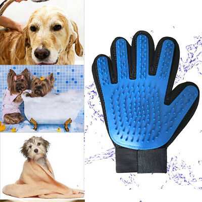 Pet Grooming Glove Brush Dog Cat Hair Comb Clean Remover Mitt Massage Deshedding