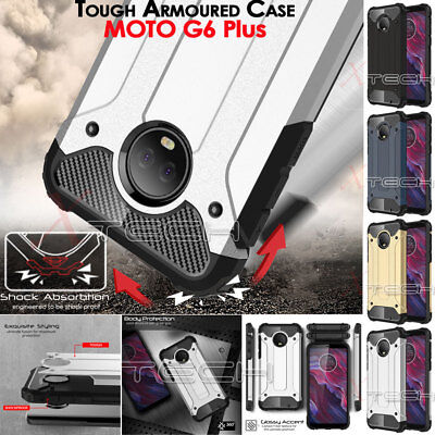 Motorola Moto G6 Plus TOUGH ARMOURED Slim Shock Proof Hard Protective Case Cover