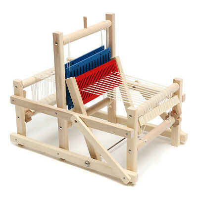 Chinese Craft Wooden Traditional Table Weaving Loom Kids Toy DIY Brocade Model