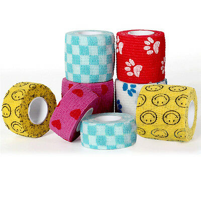 UK Pet Dog Cat Animal Vet Wound Cohesive Bandage Tape Self Adherent Wrap Useful