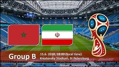 (2 Tickets) CAT 1 FIFA World Cup MOROCCO vs. IRAN in Saint Petersburg June 15th