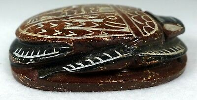 Carved Stone Scarab Ancient Egyptian Beetle