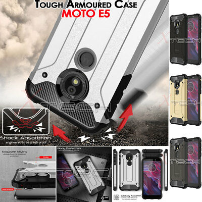 Motorola Moto E5 TOUGH ARMOURED Slim Fit Shock Proof Hard Protective Case Cover