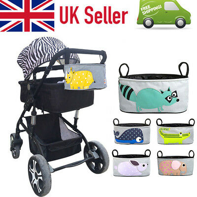 UK Seller Baby Universal Pram Pushchair Buggy Organizer Bag with Cup Holder