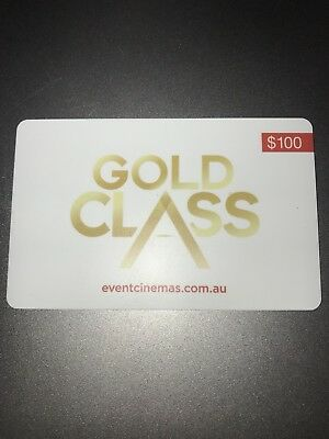 Event Cinema $100 Gold Class Giftcard