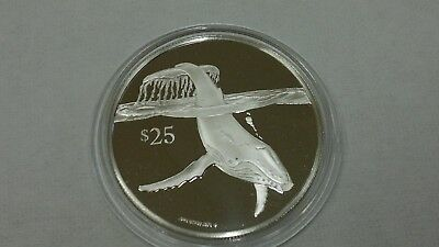 1993 British Virgin Islands Whale Silver 925 Proof