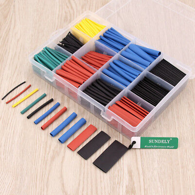 Heat Shrink Tube 560 Pcs Electric Insulation Wrap Cable Sleeve 5 colors 12 sizes