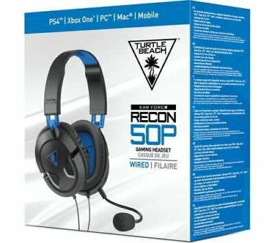 Turtle Beach Recon 50P Cuffie Wireless Gioco Xbox One Ps4 Pc Stereo Microfono