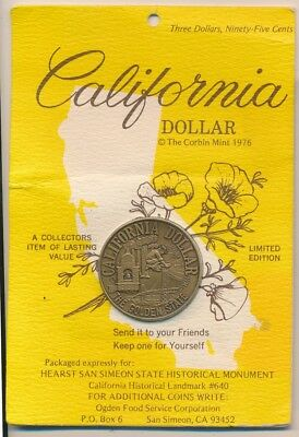 United States 1974 California Dollar the Golden State Medal 38mm Hard to Get Now