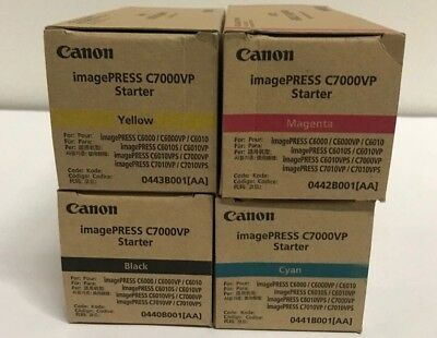 Genuine OEM Canon imagePRESS C7000VP Full Starter Set 0440,0443,0441,0442B001AA