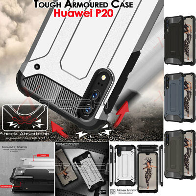 Huawei P20 TOUGH ARMOURED Slim Fit Shock Proof Hard Protective Case Cover