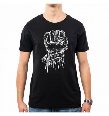 T-Shirt Uomo Fist Hack Brute Force Hand Pugno Mano Hey He0009A Pacdesign