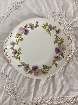 Paragon Thistle Highland Queen Fine Bone China England Oval Dish/Plate