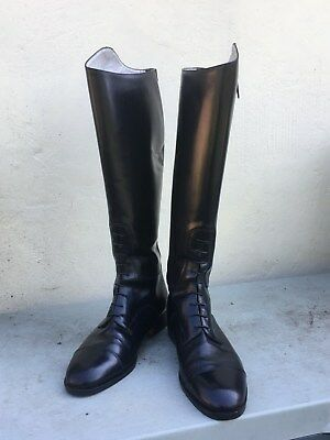 Dublin - Italian all leather long riding boots - Black size 45