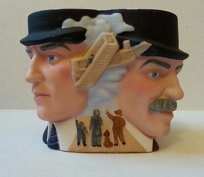 1985 Handpainted Porcelain of The Wright Brothers Avon Collector Character Mug