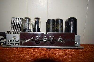 BELL & HOWELL FILMOSOUND PROJECTOR TUBE AMPLIFIER (Harp / Guitar Amp) FREE SHIP!