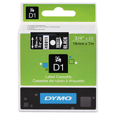 "Dymo 3/4"" (18mm) White on Black Label Tape for LabelManager 360D LM360D, LM 360D"