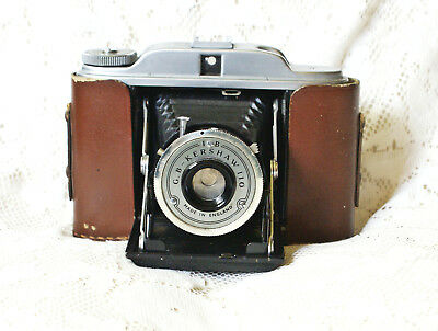 Vintage Kershaw 110 Folding Camera Bellows Immaculate Shutter Fires Half Case