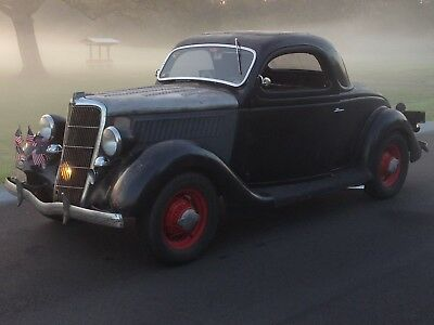 1935 Ford 3 window coupe  1935 Ford 3 Window coupe.Original paint! 49 Mercury engine.5 speed,juice brakes.