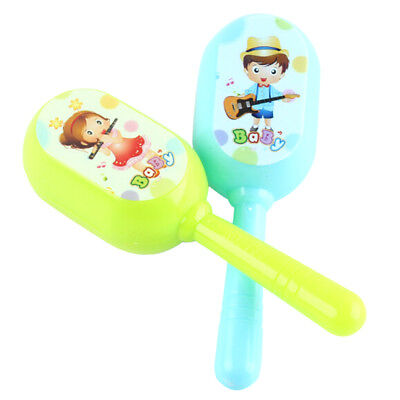2pcs Musical Toy Kids Early Educational Toy Gift Baby Grasp Hand Bell Music Toy.