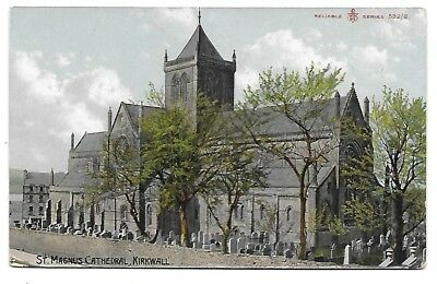 KIRKWALL Postcard St Magnus Cathedral Orkney Early