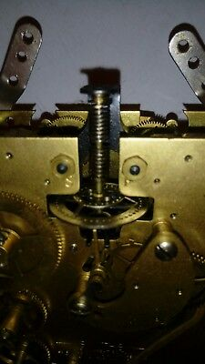 nice clock movement with unusual platform escapement