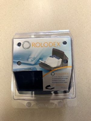 Rolodex Covered Card File 67075 Black New