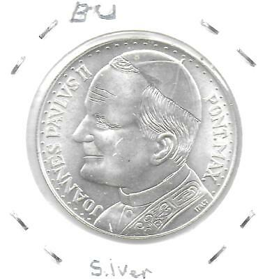 Vatican City ND(Ca.1975) Pope John Paul II Silver Medal 35 mm BU W/Luster