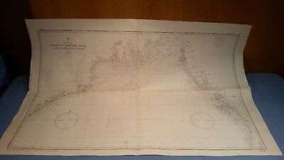 Vintage Department of the Navy Hydrographic Office Coast of British India Map