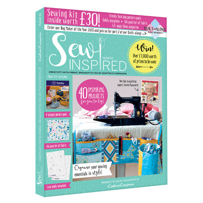 Crafters Companion - Sew Inspired Magazine - Issue 12 -Sewing Kit Worth £30 -New