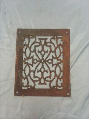 1 Antique Cast Iron Fireplace Grill Grate 9x7 Wall Ceiling Vent Old Vtg 82-18F