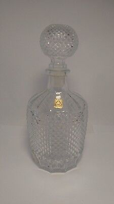 Oberglas Austria Crystal Decanter With Cut DIamond Pattern - Mint Condition
