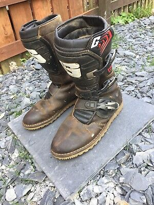 Gaerne balanced oiled brown trials boots size 44
