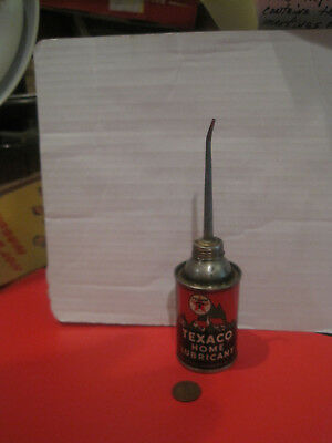 """Vintage Texaco Home Oiler Lubricant Can The Texas Company Long Spout 6 1/2"""" Tall"""