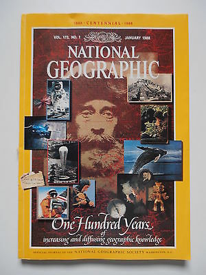 National Geographic Magazine January 1988 - Special Centennial Edition