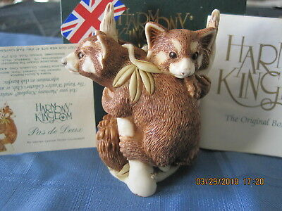 Harmony Kingdom Pas de Deux Red Panda UK Made Marble Resin Box Figurine